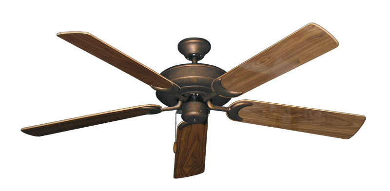 """Picture of Raindance Burnished Copper with 56"""" Walnut Gloss Blades"""