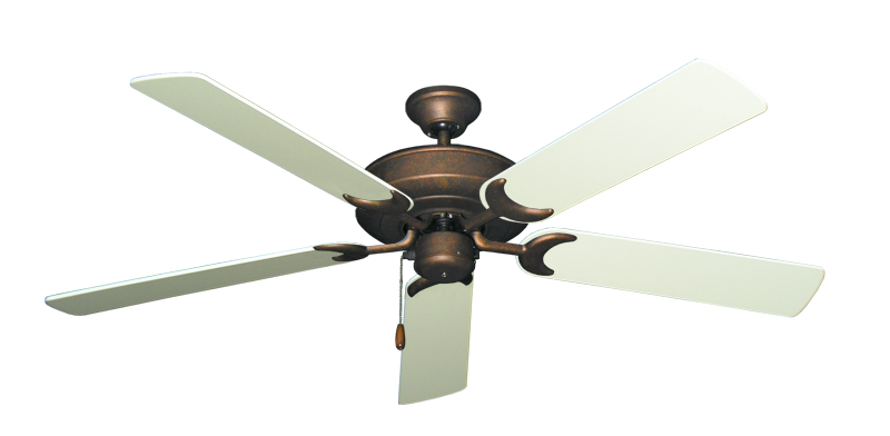 "Picture of Raindance Burnished Copper with 56"" Antique White Blades"