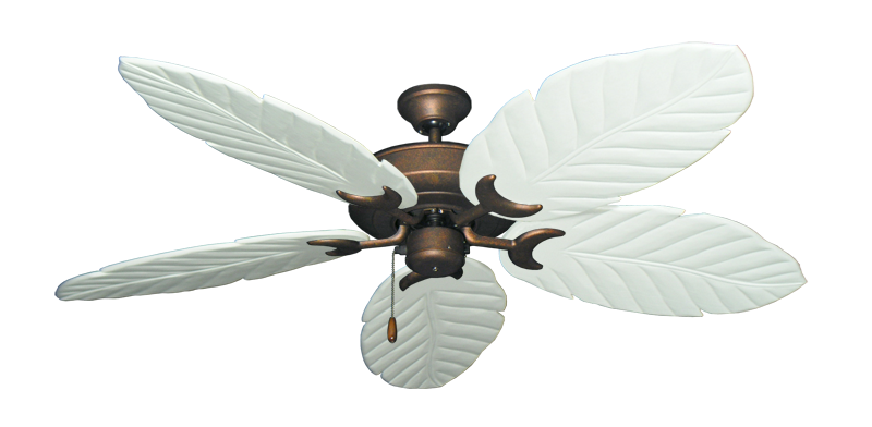"""Picture of Raindance Burnished Copper with 58"""" Series 100 Arbor Pure White Blades"""