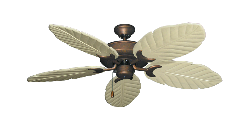 """Picture of Raindance Burnished Copper with 52"""" Series 125 Arbor Whitewash Blades"""
