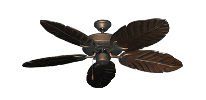 "Picture of Raindance Burnished Copper with 52"" Series 125 Arbor Dark Walnut Blades"