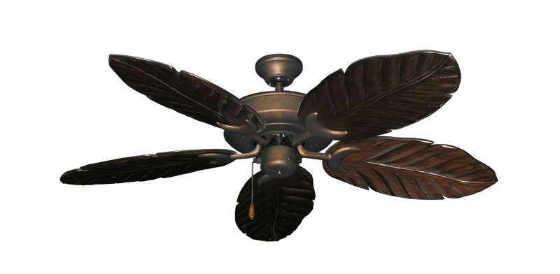 "Picture of Raindance Burnished Copper with 52"" Series 125 Arbor Dark Walnut Blades"