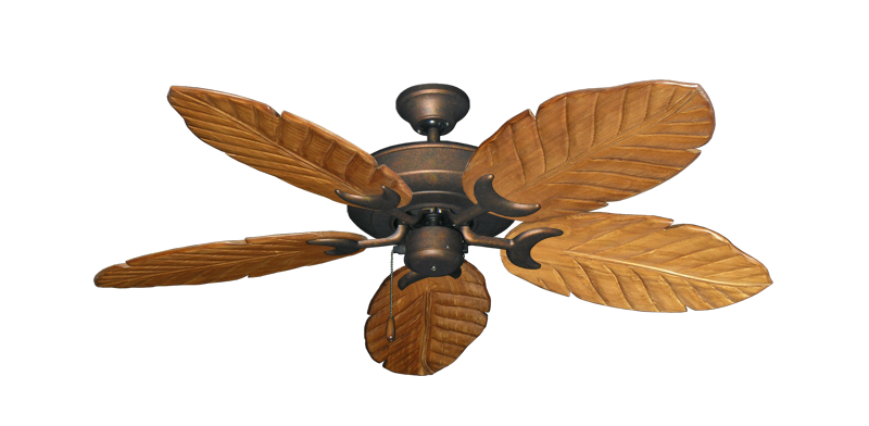 """Picture of Raindance Burnished Copper with 52"""" Series 125 Arbor Oak Blades"""