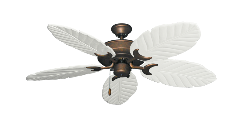 """Picture of Raindance Burnished Copper with 52"""" Series 125 Arbor Pure White Blades"""