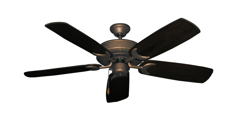 "Picture of Raindance Burnished Copper with 52"" Series 425 Arbor Dark Walnut Blades"