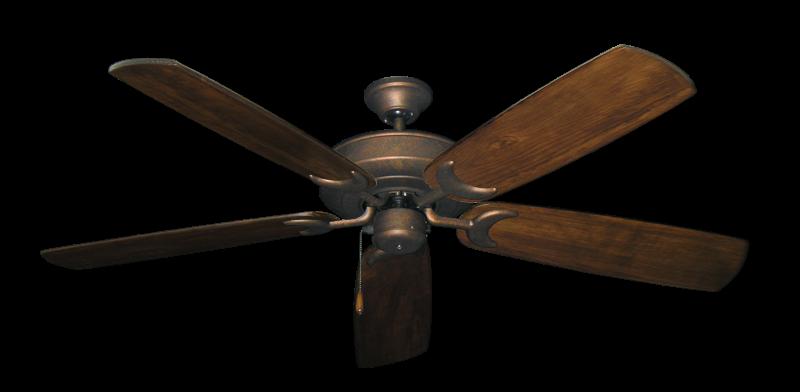 "Picture of Raindance Burnished Copper with 60"" Series 450 Arbor Dark Walnut Blades"