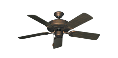 "Picture of Raindance Burnished Copper with 44"" Outdoor Oil Rubbed Bronze Blades"