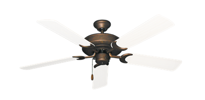 """Picture of Raindance Burnished Copper with 52"""" Outdoor Pure White Blades"""
