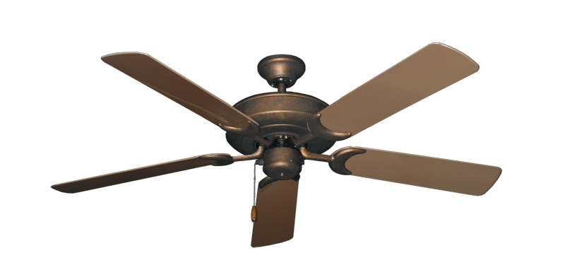 "Picture of Raindance Burnished Copper with 52"" Outdoor Brown Blades"