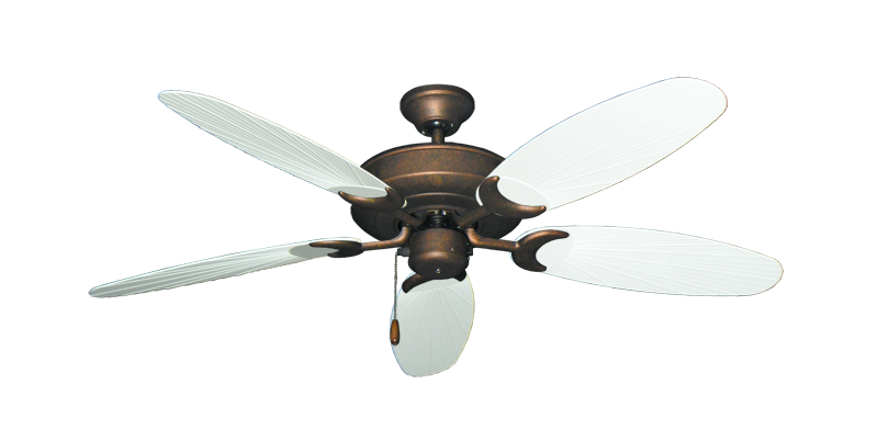 "Picture of Raindance Burnished Copper with 52"" Outdoor Leaf Pure White Blades"