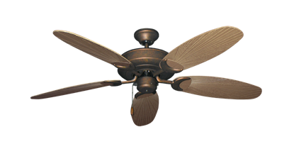 """Picture of Raindance Burnished Copper with 52"""" Outdoor Leaf Tan Blades"""