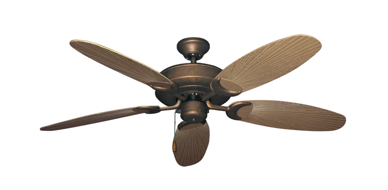 "Picture of Raindance Burnished Copper with 52"" Outdoor Leaf Tan Blades"