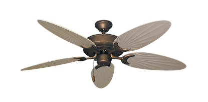 """Picture of Raindance Burnished Copper with 52"""" Outdoor Palm Distressed White Blades"""