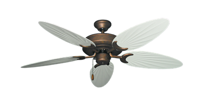 """Picture of Raindance Burnished Copper with 52"""" Outdoor Palm Pure White Blades"""