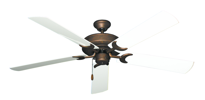 """Picture of Raindance Burnished Copper with 60"""" Outdoor Pure White Blades"""