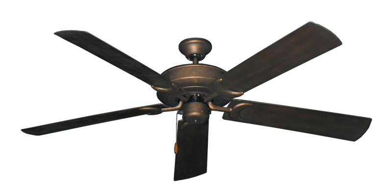 """Picture of Raindance Burnished Copper with 60"""" Outdoor Oil Rubbed Bronze Blades"""