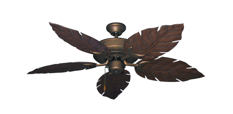 "Picture of Raindance Burnished Copper with 52"" Venetian Oil Rubbed Bronze Blades"