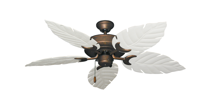 """Picture of Raindance Burnished Copper with 52"""" Venetian Pure White Blades"""