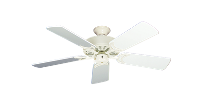 """Picture of Dixie Belle Antique White with 44"""" Pure White Gloss Blades"""