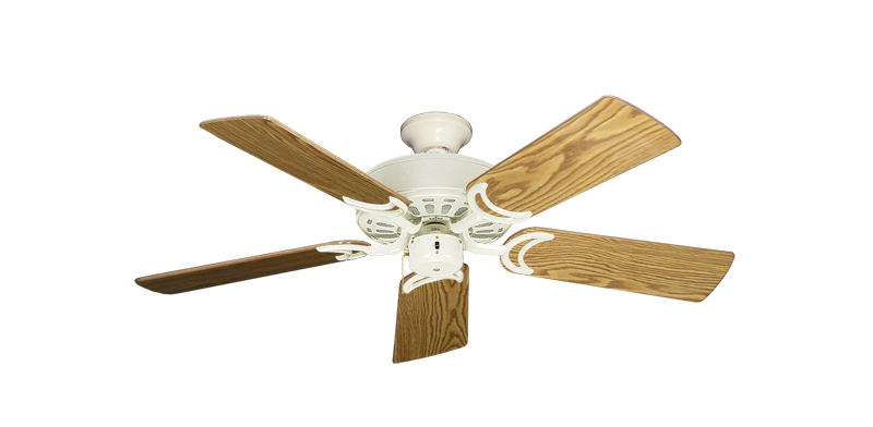 """Picture of Dixie Belle Antique White with 44"""" Oak Gloss Blades"""