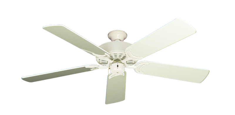 """Dixie Belle Antique White with 52"""" Antique White Gloss Blades"""