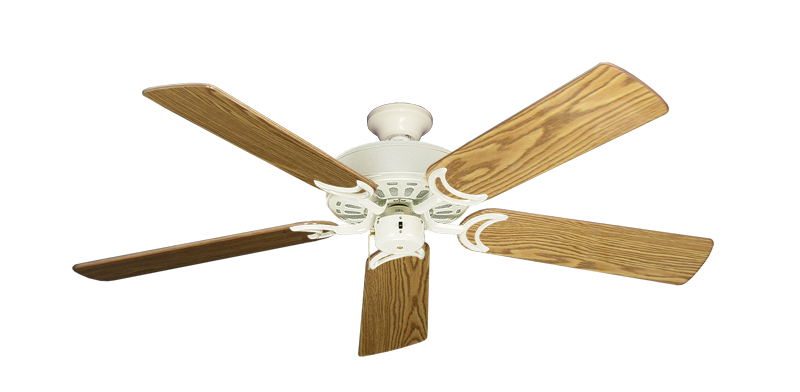 """Dixie Belle Antique White with 52"""" Oak Gloss Blades"""