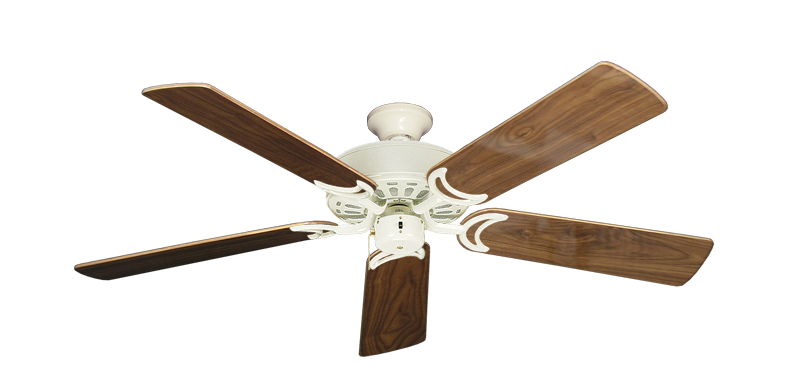 """Picture of Dixie Belle Antique White with 52"""" Walnut Gloss Blades"""