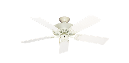 """Picture of Dixie Belle Antique White with 44"""" Outdoor Pure White Blades"""