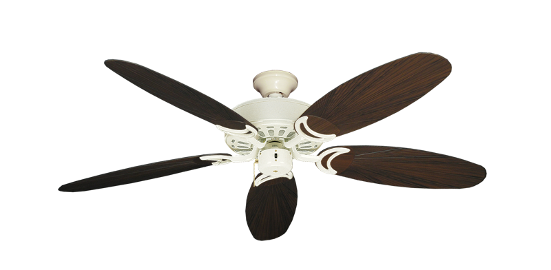 """Picture of Dixie Belle Antique White with 52"""" Outdoor Leaf Oil Rubbed Bronze Blades"""