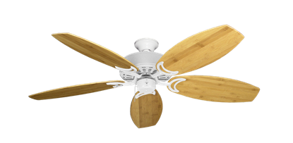 """Picture of Dixie Belle Pure White with 52"""" Oar Bamboo Brown Blades"""