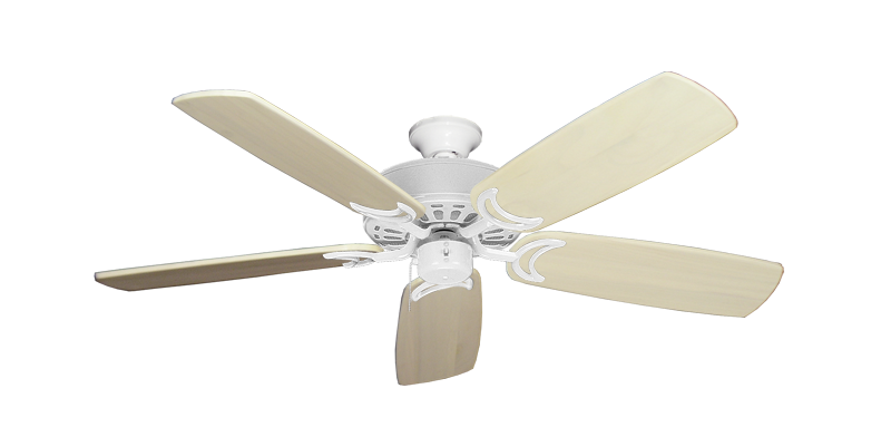 """Picture of Dixie Belle Pure White with 52"""" Series 425 Arbor Whitewash Blades"""
