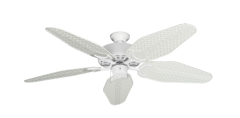 """Picture of Dixie Belle Pure White with 52"""" Outdoor Weave Pure White Blades"""