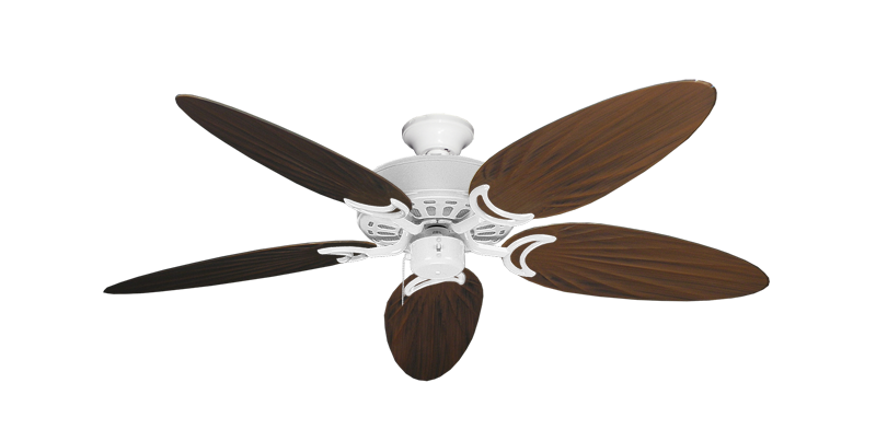 """Picture of Dixie Belle Pure White with 52"""" Outdoor Palm Oil Rubbed Bronze Blades"""