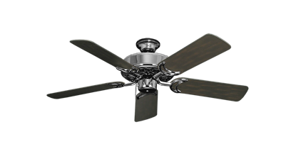 """Dixie Belle Chrome with 44"""" Outdoor Oil Rubbed Bronze Blades"""