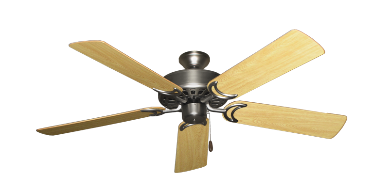 """Picture of Dixie Belle Satin Steel with 52"""" Honey Oak Gloss Blades"""