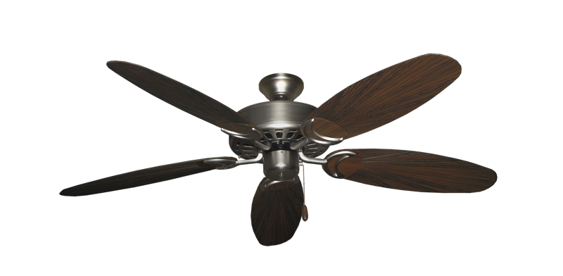 """Picture of Dixie Belle Satin Steel with 52"""" Outdoor Leaf Oil Rubbed Bronze Blades"""
