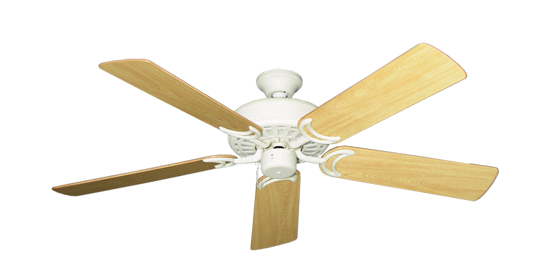 """Picture of Dixie Belle Navajo White with 52"""" Honey Oak Gloss Blades"""