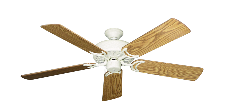 """Picture of Dixie Belle Navajo White with 52"""" Oak Gloss Blades"""