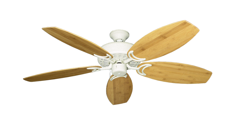 """Picture of Dixie Belle Navajo White with 52"""" Oar Bamboo Brown Blades"""