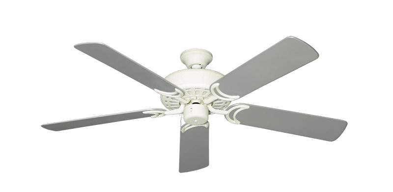 """Picture of Dixie Belle Navajo White with 52"""" Outdoor Brushed Nickel Blades"""