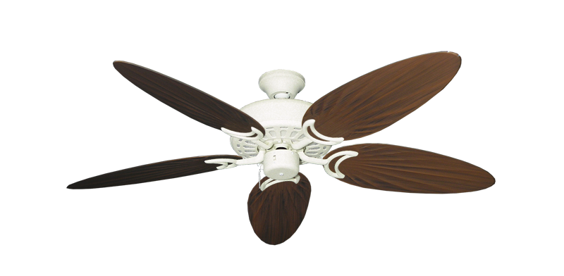 "Picture of Dixie Belle Navajo White with 52"" Outdoor Palm Oil Rubbed Bronze Blades"