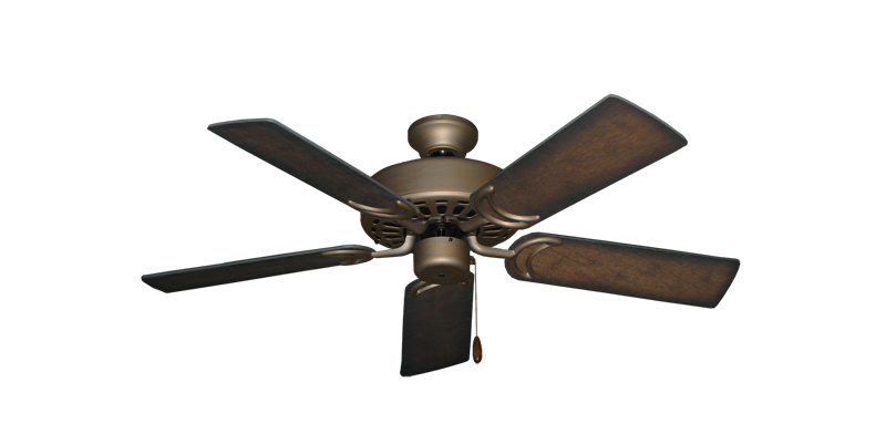"""Picture of Dixie Belle Antique Bronze with 44"""" Distressed Hickory Blades"""