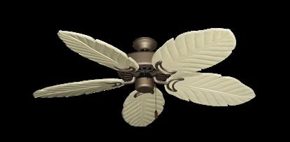 "Dixie Belle Antique Bronze with 52"" Series 125 Arbor Whitewash Blades"