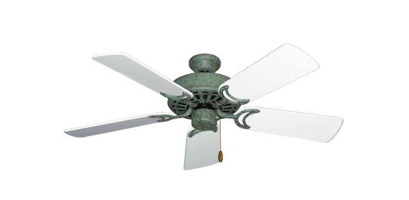 """Picture of Dixie Belle Verde Green with 44"""" Pure White Gloss Blades"""