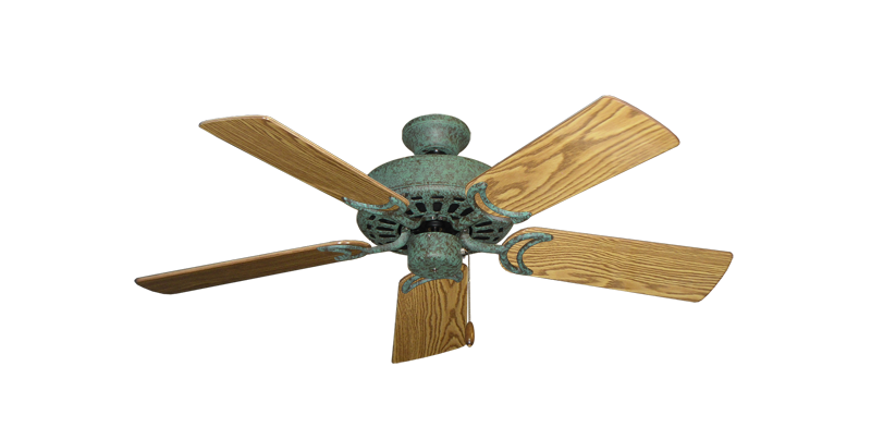 """Picture of Dixie Belle Verde Green with 44"""" Oak Gloss Blades"""