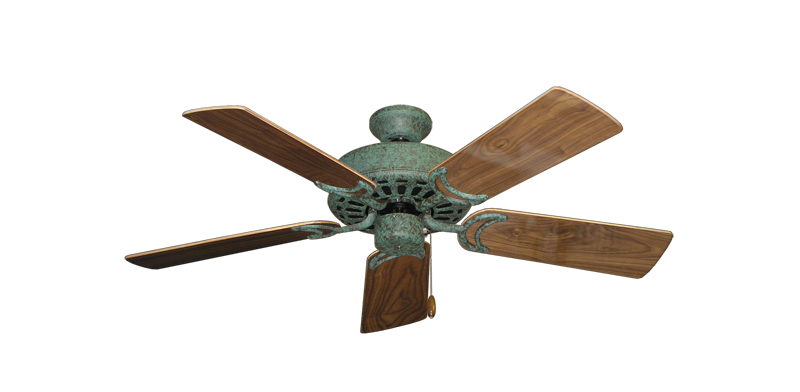 """Picture of Dixie Belle Verde Green with 44"""" Walnut Gloss Blades"""
