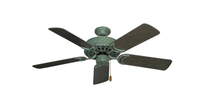 "Picture of Dixie Belle Verde Green with 44"" Outdoor Oil Rubbed Bronze Blades"