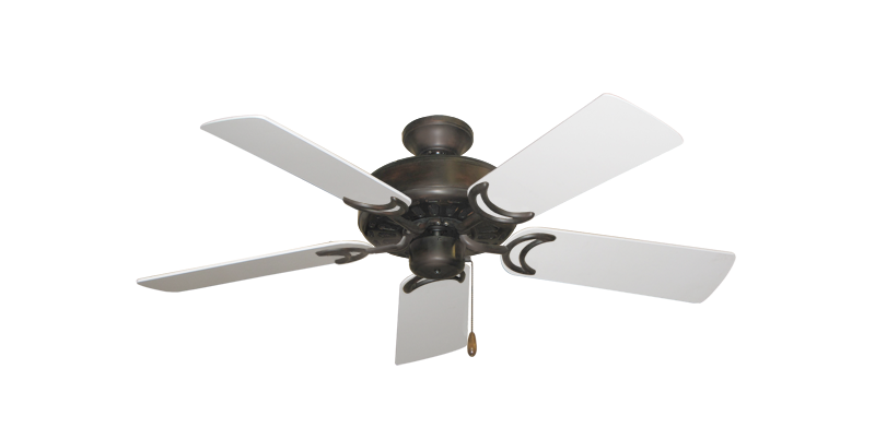 "Picture of Dixie Belle Oil Rubbed Bronze with 44"" Pure White Blades"