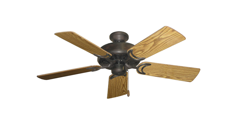 """Picture of Dixie Belle Oil Rubbed Bronze with 44"""" Oak Gloss Blades"""