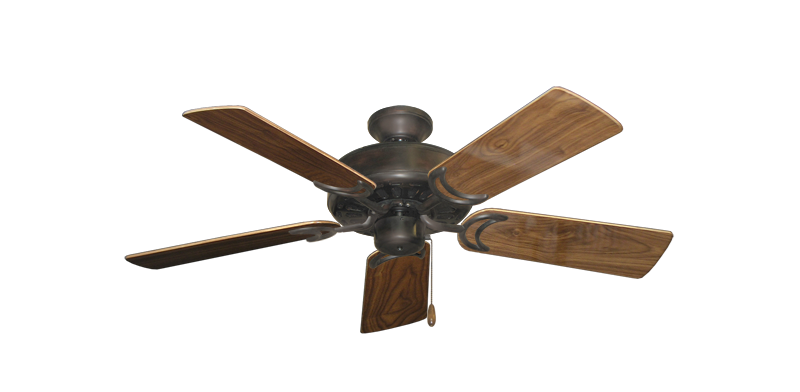 "Picture of Dixie Belle Oil Rubbed Bronze with 44"" Walnut Gloss Blades"